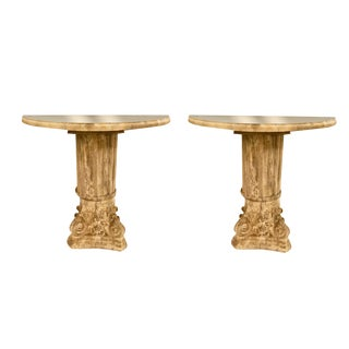 Ionic Cresent Entry Tables - a Pair