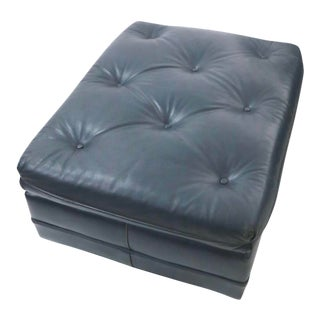 Classic Leather Ottoman, Footrest For Sale