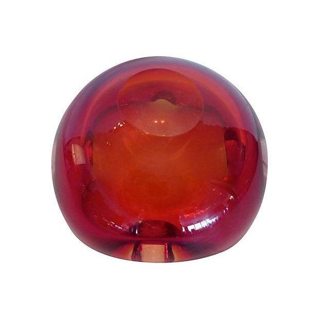 Red Murano Glass Dish - Image 3 of 4
