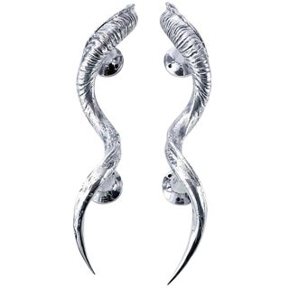 Exotic Horn Door Handles - a Pair For Sale