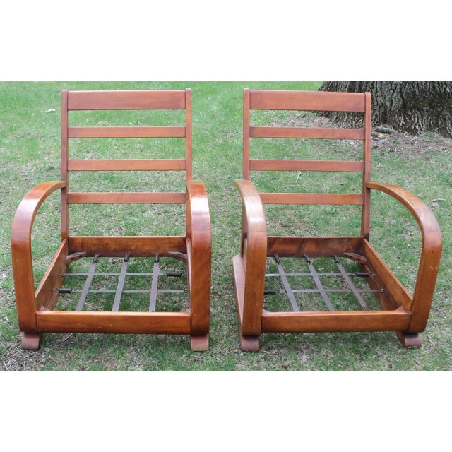 Mid-Century Club Chairs - A Pair - Image 8 of 11
