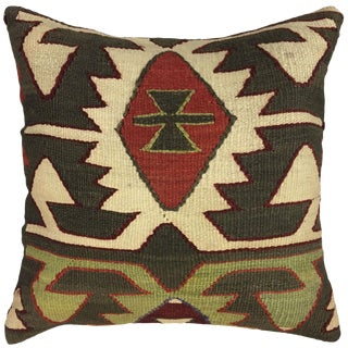"Rug & Relic Kilim Pillow | 16"" For Sale"