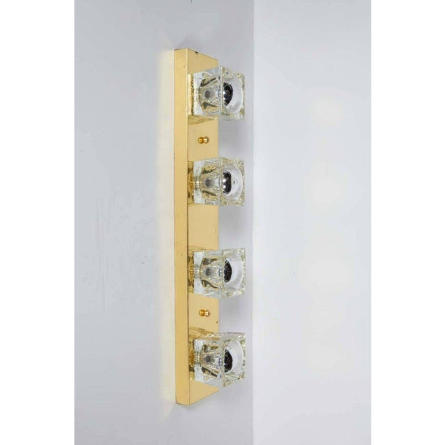 Cubist Glass and Brass Wall Sconce by Gaetano Sciolari for Lightolier For Sale In New York - Image 6 of 8