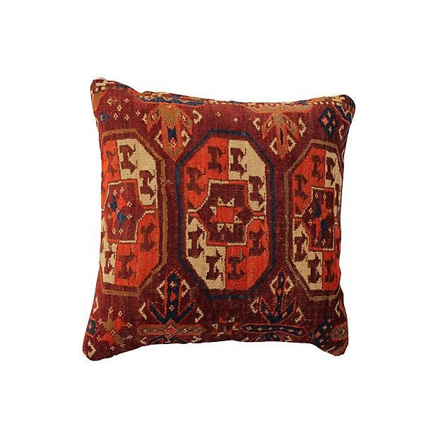 Antique Turkish Rug Pillow For Sale - Image 4 of 4