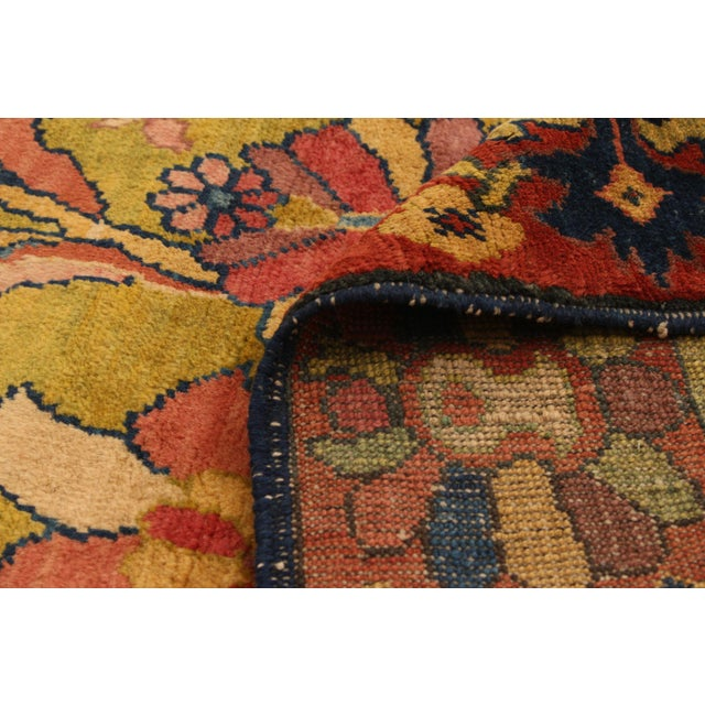 Mustard Classic Hand-Knotted Rug For Sale - Image 8 of 9