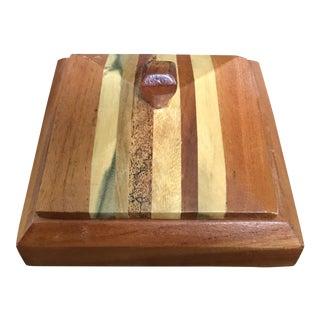 Mixed Wood Trinket Box