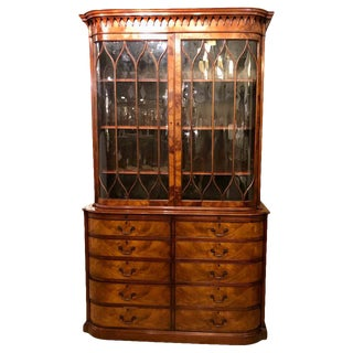 Beacon Hill Collection Cabinet / Breakfront Flame Mahogany in Georgian Style For Sale