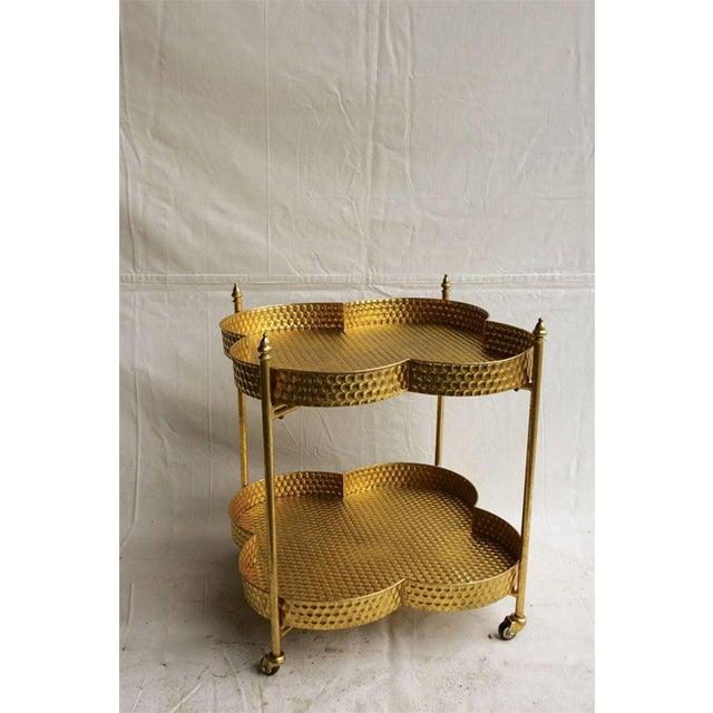 Gold Clover Bar Cart - Image 2 of 2