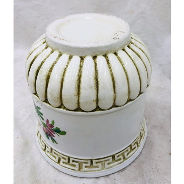Hand Painted Italian Cache Pot For Sale - Image 4 of 6