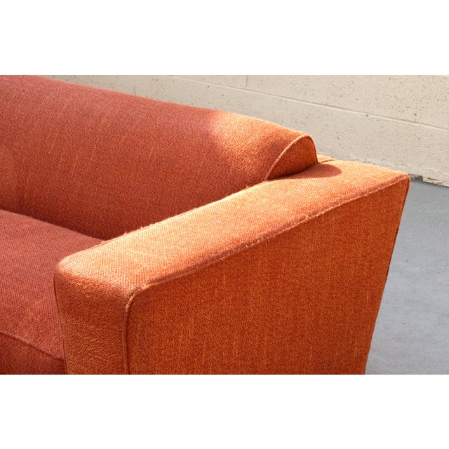 Textile Pauk Frankl Art Deco Club Sofa, Original 1940s For Sale - Image 7 of 8
