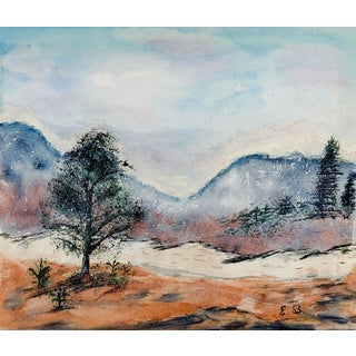 Modernist Winter Landscape Painting For Sale