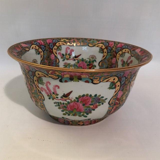 Asian Rose Medallion Bowl For Sale - Image 3 of 11