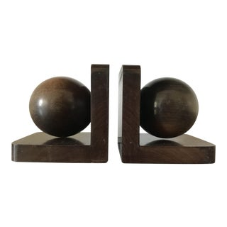 Wooden Midcentury Modern Bookends For Sale