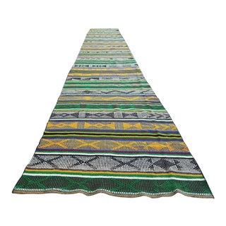 Handmade Boho Hall Kilim Rug Runner - 1′6″ × 2′8″ For Sale