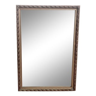 Gilded, Relief Design, Rectangular Wall Mirror For Sale