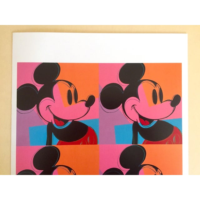 "This Andy Warhol rare out of print vintage 1995 "" Mickey Mouse "" 1981 offset lithograph print Pop Art poster is a very..."