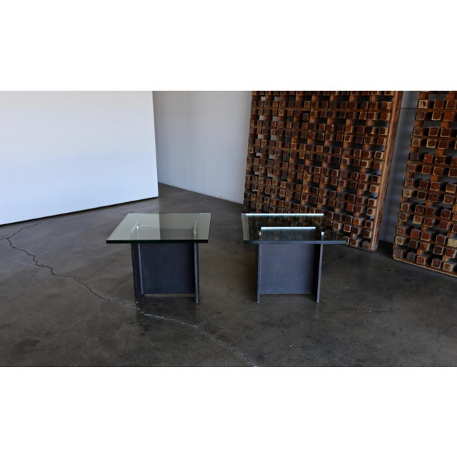 Gerald McCabe I Beam Side Tables Circa 1965 - a Pair For Sale - Image 11 of 13