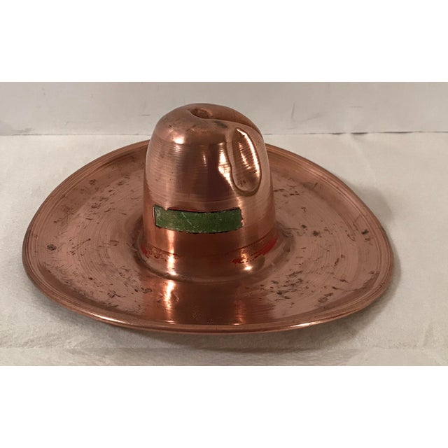 Farmhouse Vintage Mid-Century Copper Cowboy Hat Model For Sale - Image 3 of 8