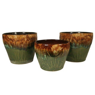 "Robinson Ransbottom ""Sunrise / Sunset"" Jardinieres, Set of 3"
