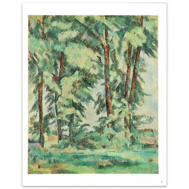 1940s 1940s Cezanne Big Trees at Le Jas De Bouffan Swiss Plate For Sale - Image 5 of 6