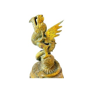 Old Bronze Candleholder w/ Dragon Preview