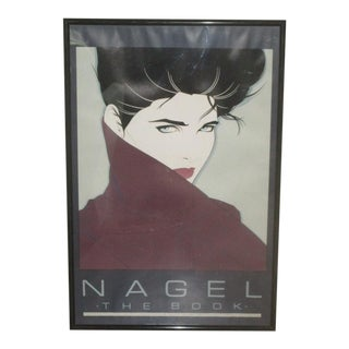 """Patrick Nagel """"The Book"""" 1985 Mirage Editions Poster For Sale"""