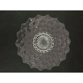 Vintage Clear Glass Cake Plate /Platter Preview