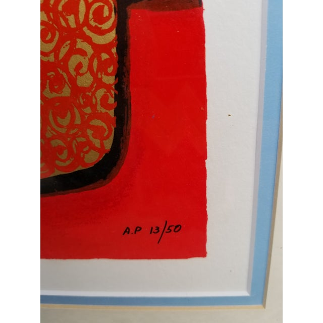 """Blue Flowers"" Serigraph by Avi Ben Simhon For Sale - Image 10 of 13"