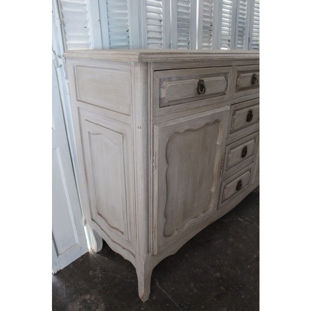20th Century Shabby Chic French Style Painted Sideboard For Sale - Image 4 of 10