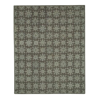 Transitional Geometric Tile-Like Patterned Rug Hand Tufted - 8' X 10'