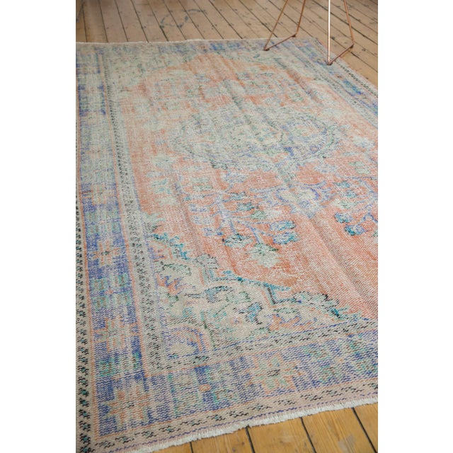 """Peach Vintage Distressed Oushak Carpet - 6'2"""" X 9'8"""" For Sale - Image 8 of 13"""