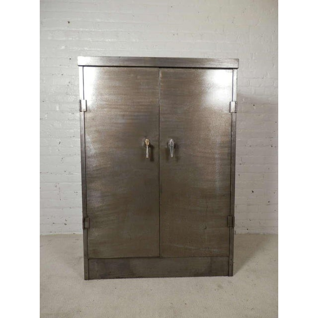 Black Heavy Duty Industrial Metal Cabinet For Sale - Image 8 of 9