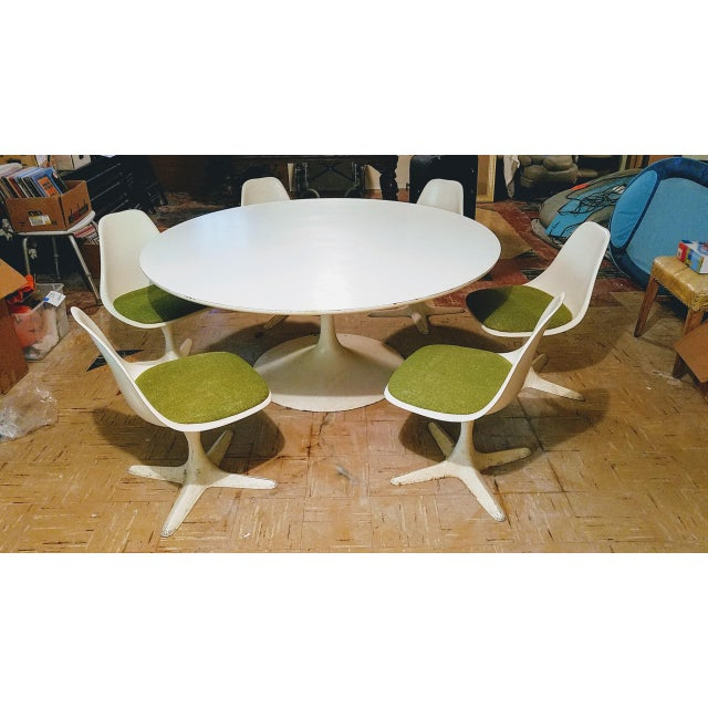 Burke Saarinen Tulip Table & 6 Chairs For Sale - Image 11 of 11
