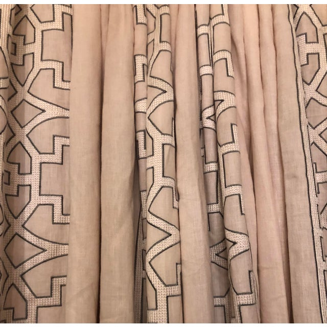 Blushing Beige Colefax & Fowler Designer Drapery Full Window Treatment 1 of 2 For Sale