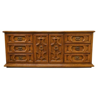 20th Century Spanish Thomasville Furniture Levitz Triple Door Dresser For Sale