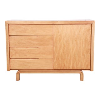 Edmond Spence Swedish Modern Maple Sideboard Credenza, Newly Refinished For Sale