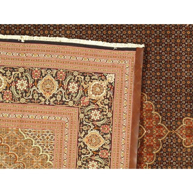 "Pasargad NY Persian Tabriz 60-Raj Rug - 8'6"" x 10'4"" For Sale - Image 4 of 5"