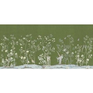 """Casa Cosima Moss Brighton Wallpaper Mural - 5 Panels 180"""" W X 96"""" H For Sale"""