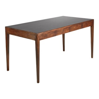 Severin Hansen Mahogany Desk for Haslev, Denmark, 1960s For Sale
