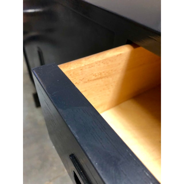 Danish Modern Mid Century Black Lacquered Danish Cabinet For Sale - Image 3 of 8