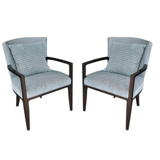 Barbara Berry for Hickory Lounge Chairs - A Pair For Sale