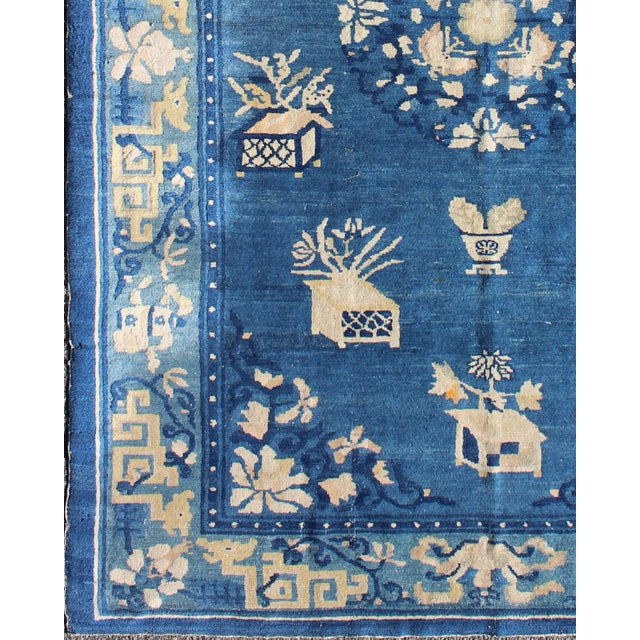Antique Chinese rug, Chinese Peking rug. Alive with color and exotic patterns, this beautiful antique Peking Chinese rug...