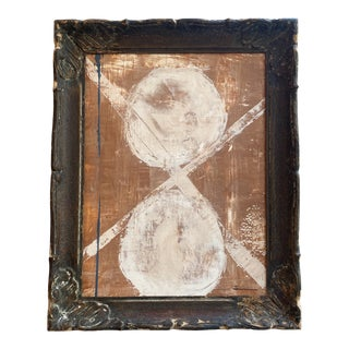 Original Abstract Art in Antique Frame For Sale