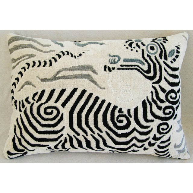 Clarence House Tibet Dragon Fabric Pillows - Pair - Image 4 of 11