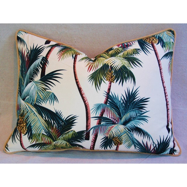 Designer Tropical Coconut Palm Tree Pillows - Pair - Image 10 of 10