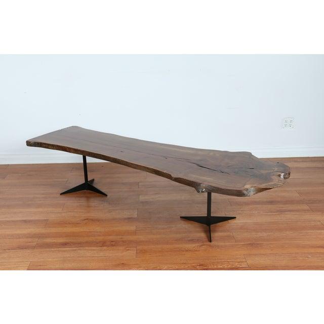 Solid Walnut Wood Slab Coffee Table - Image 2 of 10