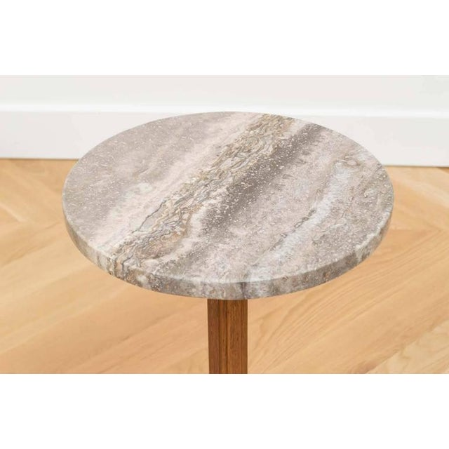 Dunbar Furniture Edward Wormley for Dunbar Marble Side Table For Sale - Image 4 of 6