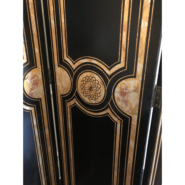 Maitland - Smith Maitland Smith Hollywood Regency Style Room Divider For Sale - Image 4 of 12