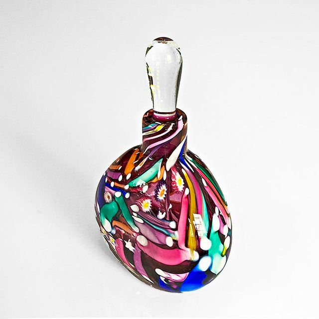 Hand Blown Signed Art Glass Perfume Bottle - Image 4 of 6