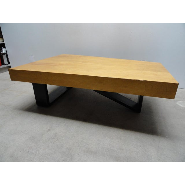 Wood Rare Barzilay Trapezoid Cocktail Table in Birch For Sale - Image 7 of 10